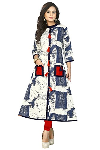 Vbuyz Women's Cotton And Rayon Multicolor Kurtis (VB-KU-93-38_Multicolor)