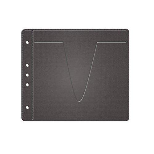 MediaRange BOX61 Negro estuche para medios de almacenamiento - Funda (Negro, Monótono, Vellón)