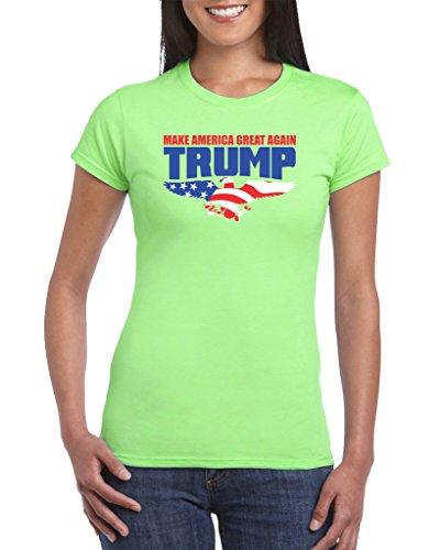 zenzzle-camiseta-manga-corta-para-mujer-verde-verde-claro-x-large