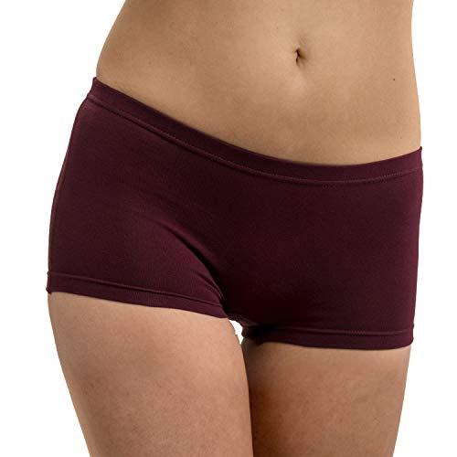 HERMKO 5700 2er Pack Damen Panty aus anschmiegsamer Baumwolle/Elastan, Farbe:Bordeaux, Größe:36/38 (S) -