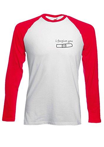 I Forgive You Broken Heart Novelty Black/White Men Women Damen Herren Langarm Unisex Baseball T Shirt Verschiedene Farben Rot