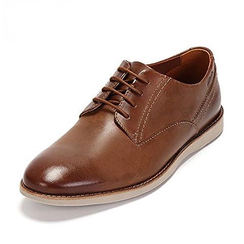 Clarks Franson Plain, Men's Derby, Brown (Tan Leather), 9 UK (43 EU)