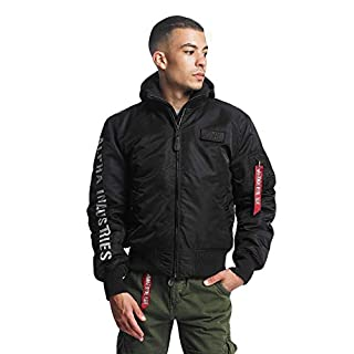 Alpha Industries Men Bomber Jackets MA-1 D-Tec SE Flight Black M