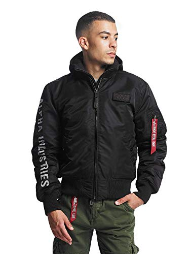Alpha Industries Herren Bomberjacke MA-1 D-Tec SE Flight schwarz - 375287 XL