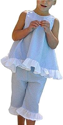 Covermason Niña Linda Arco Chaleco Tops y Pantalones Cortados(1Conjunto)