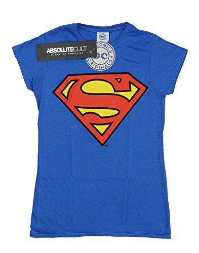 DC Superman - Logo (Womens) T-shirt  Col ras du cou Manches courtes Femme Bleu royal