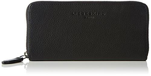 Liebeskind Berlin Damen Sally vintage Geldbörsen, Schwarz (black 0001), 20x10x3 cm