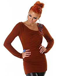 XXl Pullover Long Kleid 38 40 Rustic Fein Strick