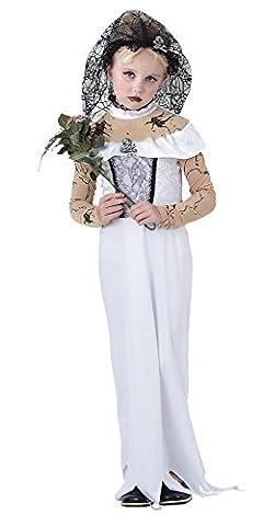 Corpse Bride Costume Enfant - Enfants mariée Zombie