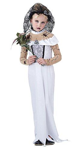 (Bristol Novelty CC854 Zombie Braut Kostüm, weiß, Medium, 122-134 cm)