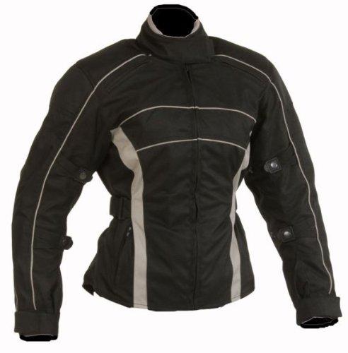 Damen Motorrad Jacke Motorradjacke schwarz / grau Gr.XL