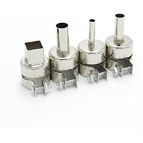 LS Granville 4 pezzi 5 mm, 8 mm e 10 mm, 30 mm di diametro, lunghezza: 850 Series hercolor-Ugello BGA per Saike ATTEN yihua Ugello per aria calda