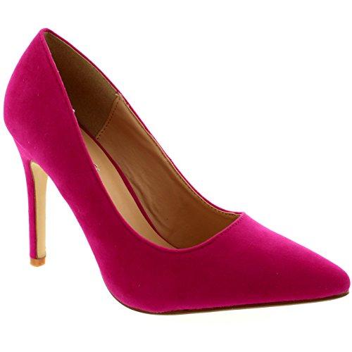 Chaussures Formelles De Travail De Bureau De Talon Moyen De Viva Basses Chaussures Roses D'orteil Léger