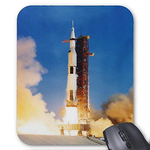 Computer Accessories Anti-Friction Wristband Apollo 11 Launch Mouse Pad 18X22