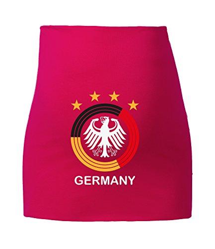 Angry Shirts Deutschland Kreis für Schwangere - Fußball WM 2018 in Russland - Fanartikel - Bauchband