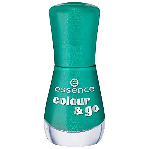 Essence Colour & Go Quick drying Nail Polish Nr. 179 roller coaster Farbe: Grün mit Glanz Inhalt: 8ml Nagellack Nail Polish für schöne Nägel