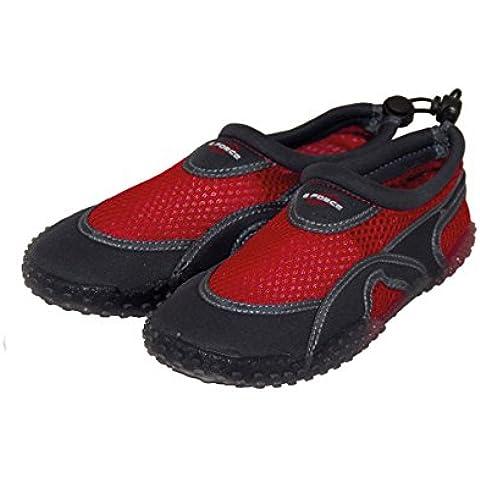Gul Childs y adultos GForce Wetshoes Aqua playa neopreno zapatos–rosa al aire libre o rojo, unisex, rojo, 10 (Child