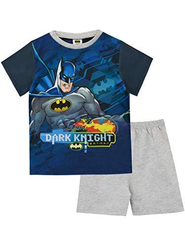 Batman pigiama a maniche corte per ragazzi dc comics blu 7-8 anni