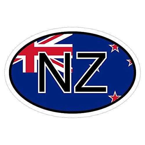 Preisvergleich Produktbild Neuseeland NZ in zwei Größen mehrfarbig Autoaufkleber Aufkleber KFZ Flagge