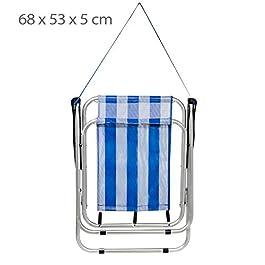 Aktive 53951 – Sedia Pieghevole Fissa Alluminio Beach 47x54x75 cm -Blu