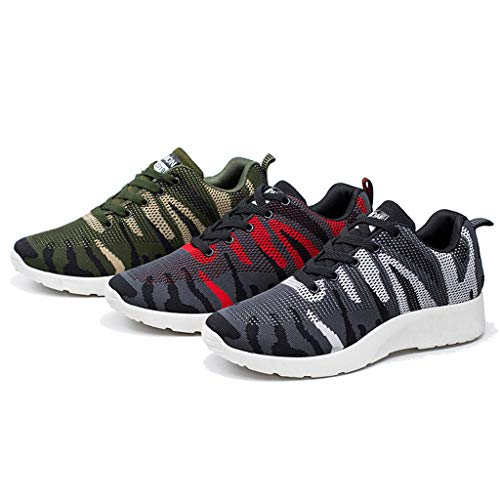 r Mesh Casual Sportschuhe Runing Breathable Camo Herren Laufschuhe Sportschuhe Schuhe Turnschuhe Trainers Running Fitness Atmungsaktiv Sneakers Fitnessschuhe ()