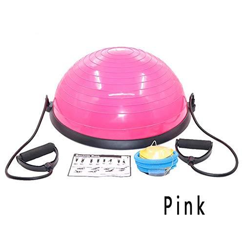 wordeye Hochwertige Yoga-Ball Körperbalance Halbkugel Fitnessball Gymnastikball Sport Pink 58CM