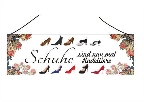"""Vintage Türschild """"Schuhe sind nun mal Rudeltiere"""""""