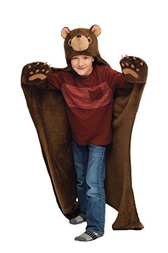 gbar mit Kapuze Decken von Fin Fun Brown Bear (Teddy Bär Kostüm Kind)