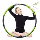 Hula Hoop zur Gewichtsreduktion,Reifen mit Schaumstoff 1,3 kg Gewichten Einstellbar Breit 48-88 cm...