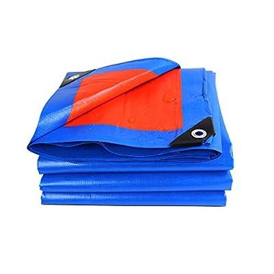 Lonas Paño de lona de plástico Paño de sombra Paño de protección solar Protector solar a prueba de agua, Grosor 0,34 mm, 180 g / m2, 13 Opciones de tamaño, Azul + Naranja, Nota: Solo 1 se puede compra