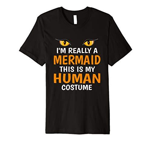 Ich bin wirklich eine Meerjungfrau This is my Echthaar Kostüm Shirt