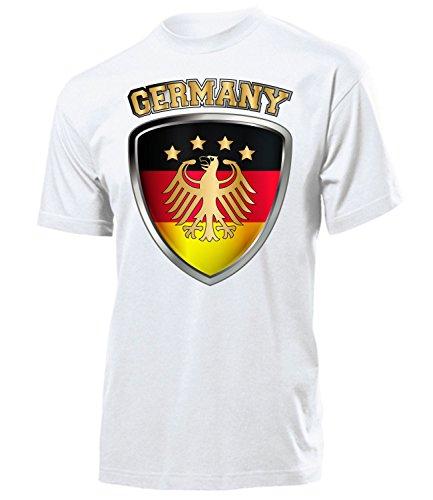 Deutschland Germany Fan t Shirt Artikel 4699 Fuss Ball Welt Europa Meisterschaft EM 2020 WM 2022 Team Trikot Look Flagge Fahne Männer Herren L