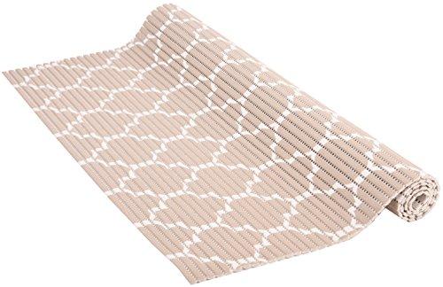 Venilia Weichschaummatte VenisoftCrossrutschfester Bodenbelag Duschmatte Anti-Rutschmatte, PVC-Polyester, taupe-weiß, 65 x 200 cm, 54718