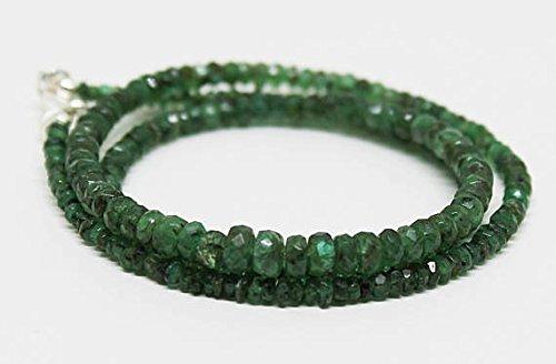 cher Smaragd Facettiert Rondelles-Bereit zu tragen Halskette 3verschiedene 45,7cm/Mai Geburtsstein ()