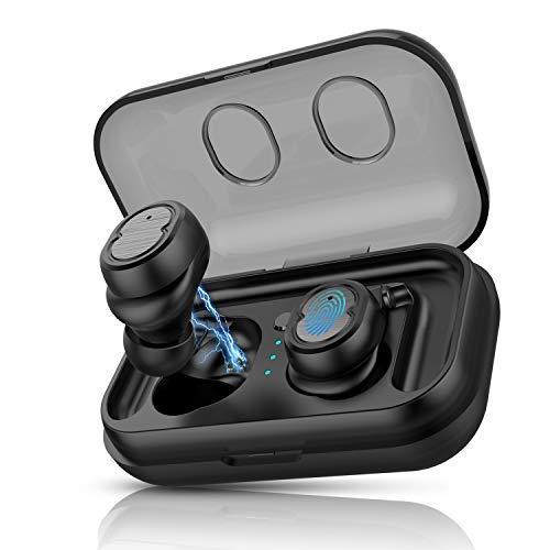 Auriculares Bluetooth 5.0 Inalámbricos,  Anyfun In- Ear Auriculares Mini Sonido Estéreo/Control tactil/Impermeable IPX6/ 20 HR/cancelación de Ruido Auricular Bluetooth con Auriculares Siri TWS