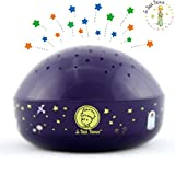 "The Little Prince ""Touch Active, Easy Clean"" Twilight Constellation Galaxy Round Projector Night Light by Lumitusi"