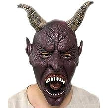 Emorias 1 Pcs Máscara de Halloween Diablo Fantasma Látex Cabeza Maquillaje Fiesta ...