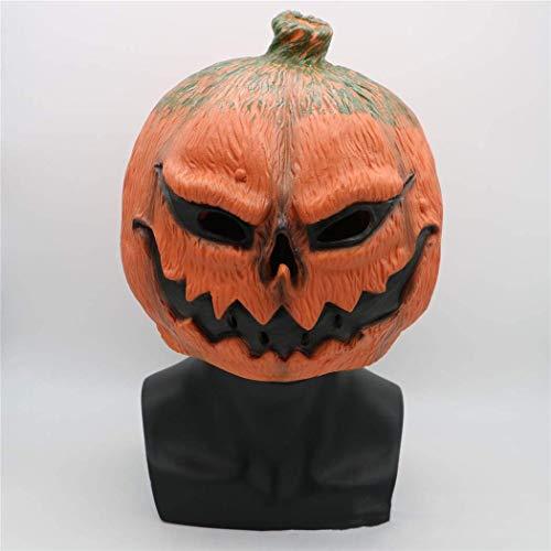 Zum Kostüm Superhelden Verkauf - Xiao-masken Maske Maskerade Prom Maske Kürbis Maske, gruselige Party lustiges Spiel Halloween Kostüm Party Prop Latex Kürbis Kopfbedeckung (Halloween Kürbis Maske)