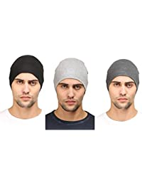 a0e9277be63 Huntsman Era Cotton Helmet liner   Skull cap for men (Pack of 3