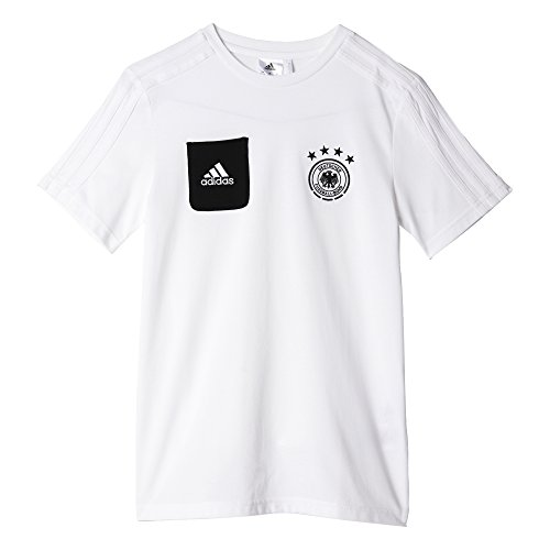 adidas Kinder Dfb Play T-Shirt, White/Black, 140 (Tonale Streifen T-shirt)