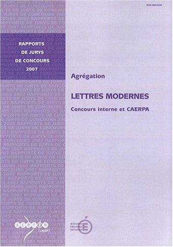 Agrégation Lettres modernes : Concours interne et CAERPA