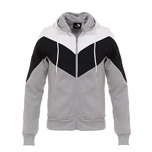 Herren Es Groß und Groß Entspannt Fit Hoodie Thermal Sherpa-Futter Sweatshirt Grau S (Thermal Sherpa Sweatshirt)