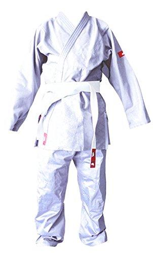 Softee-Judogi Yosihiro-Kimono Judo-100% Alg.-incl. Cinturon Blanco-Colore: Blu, Misura 00/120 cm