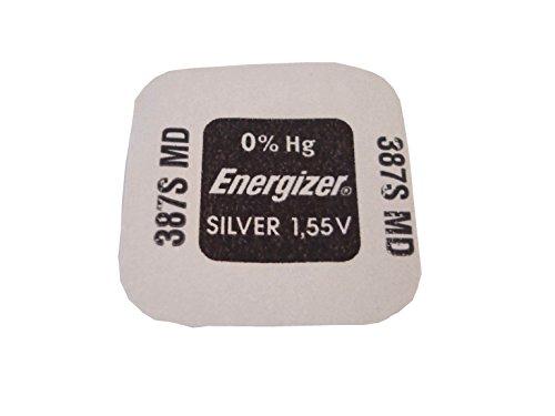 1 x Batterie Energizer 387s oxyde d'argent (0% Mercure) 1,55 V (394 Batterie avec bague entretoise)