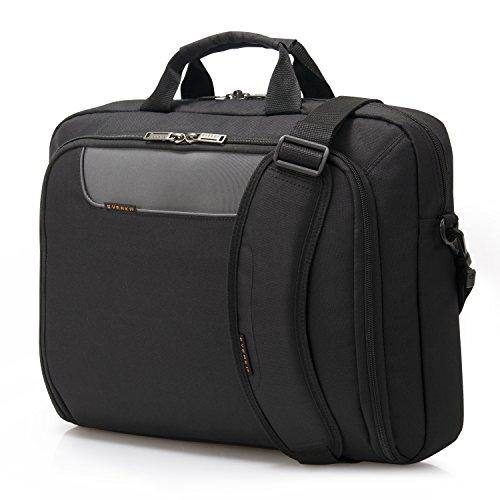 Everki Advance – Laptoptasche für Notebooks bis 18,4 Zoll (46,7 cm) mit Zubehör-Fach, kontrastreichem Innenfutter und Trolley-Lasche, optimal für große Notebooks, Schwarz