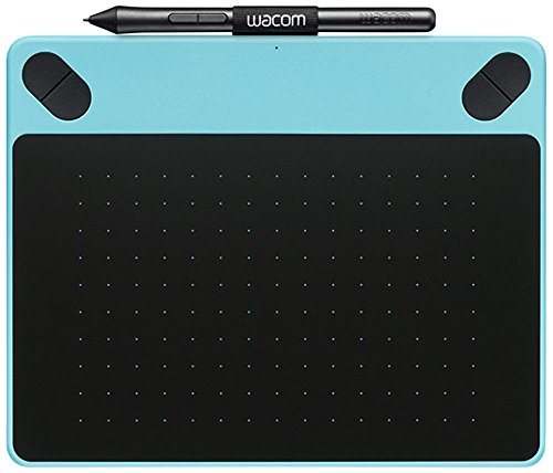 Wacom Intuos Draw - Tableta gráfica (2540 lpi, 1024 niveles, incluye bolígrafo), color azul