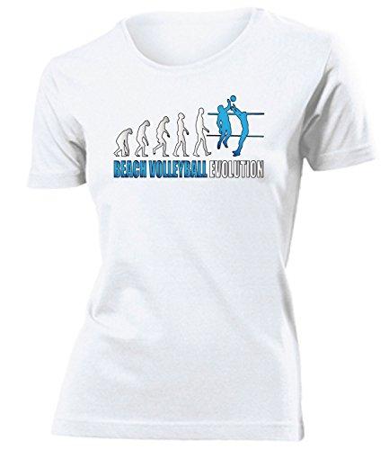 BEACH VOLLEYBALL EVOLUTION Donna Maglietta Taglia S to XXL vari colori bianco / Blu
