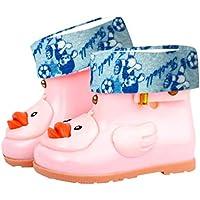 FORH Wasserdichte schuhe Regenfüßlinge Regenüberschuhe Regenschuhe Krabbelschuhe Regen Schuhe Kinder Baby Cartoon Ente Gummi Schuhe Wasserdichte Warme Stiefel