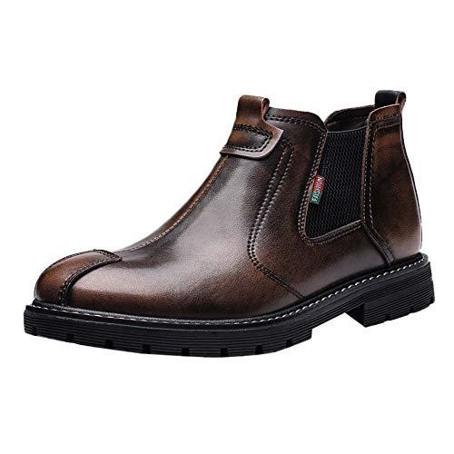 LuckyGirls Botas De Cuero Moda Botas Hombre Moteras Zapatos Zapatillas