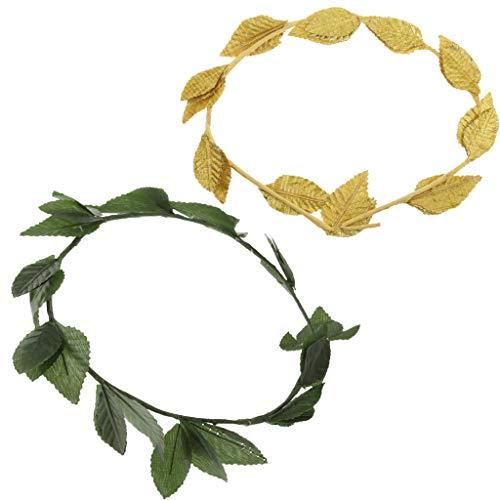 IPOTCH 2psc Blattkrone Stirnband Römisch-Griechische Göttin Kopfschmuck